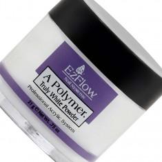 Ezflow акриловая ярко-белая пудра truly white acrylic powder 21г