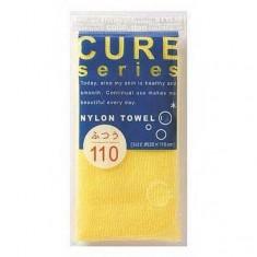 мочалка для тела средней жесткости (желтая) o:he cure nylon towel regular yellow