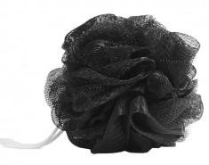 DEWAL BEAUTY Мочалка для тела, черная 1 шт