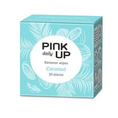 Салфетки для снятия лака и гель-лака PINK UP DAILY Кокос 30 шт