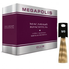 Оллин/Ollin MEGAPOLIS 9/0 блондин 3х50мл Безаммиачный масляный краситель для волос OLLIN PROFESSIONAL