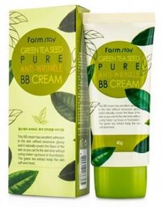 BB-крем антивозрастной с семенами зеленого чая FARMSTAY Green tea seed pure anti-wrinkle BB-cream 40 г