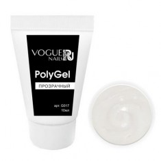 Vogue Nails, PolyGel прозрачный, 10 мл