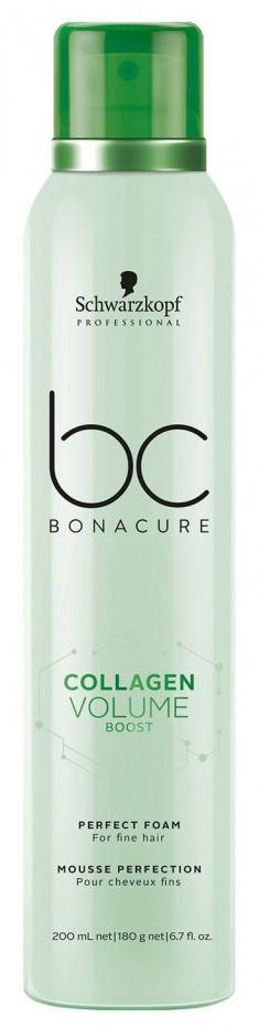 SCHWARZKOPF PROFESSIONAL Мусс для прикорневого объема волос / BC Collagen Volume Boost Perfect foam 200 мл