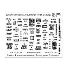 BPW.Style, Слайдер-дизайн «Надписи» №1-1481