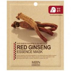 Маска для лица тканевая красный женьшень Mijin RED GINSENG ESSENCE MASK 25гр