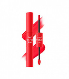 Тинт для губ двойной THE SAEM Two Texture Tint CR01 Harmony Coral 8гр