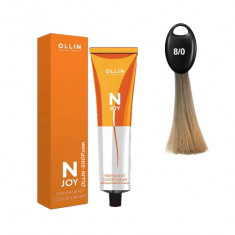 Ollin N-JOY 8/0 светло-русый перманентная крем-краска для волос 100мл OLLIN PROFESSIONAL