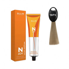 Ollin N-JOY 10/73 светлый блондин коричнево–золотистый перманентная крем-краска для волос 100мл OLLIN PROFESSIONAL