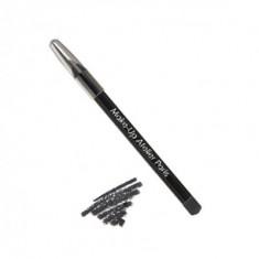 Карандаш для глаз перламутровый Make-Up Atelier Paris C10 черный