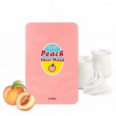 Тканевая маска с экстрактом персика и йогуртом A'PIEU Peach&Yogurt Sheet Mask 23гр