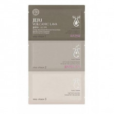 набор от черных точек the face shop jeju volcanic lava 3-step blackhead remo