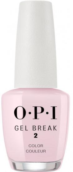 OPI Покрытие ухаживающее с эффектом цвета, розовый / Gel Break Properly Pink 15 мл