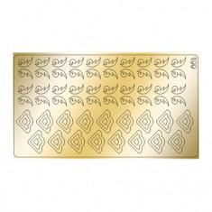 Freedecor, Металлизированные наклейки №199, золото
