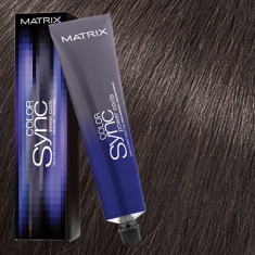 Краска для волос без аммиака Matrix Color Sync POWER COOLS 5AA Светло-коричневый ясень 90мл