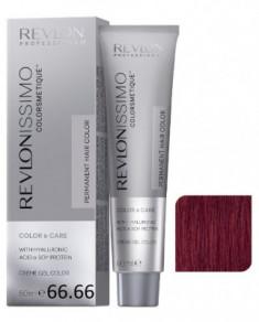 Краска перманентная Revlon Professional Revlonissimo Colorsmetique 66.66 Темный Блондин гипер Красный 60мл
