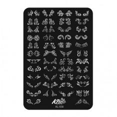 Klio Professional, Пластина для стемпинга №030