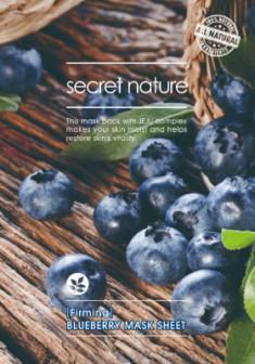 Тканевая маска для лица с черникой Secret Nature Firming Blueberry Mask Sheet 25 мл