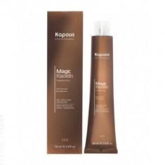 Крем-краска для волос с кератином Kapous Professional Magic Keratin - 6.11 Темный блондин интенсивный пепельный, 100 мл