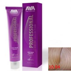 Крем-краска для волос стойкая Kaaral ААА Hair Cream Colorant 10.84 очень очень светлый бежево-медный блондин 100 мл