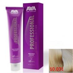 Крем-краска для волос стойкая Kaaral ААА Hair Cream Colorant 10.031 очень очень светлый золотисто-перламутровый блондин натуральный 100 мл