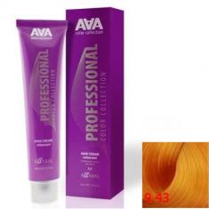 Крем-краска для волос стойкая Kaaral ААА Hair Cream Colorant 9.43 очень светлый медно-золотистый блондин 100 мл