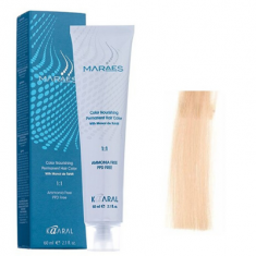 Крем-краситель стойкий без аммиака Kaaral Maraes Nourishing Permanent Hair Color 11.0 экстра-светлый блондин натуральный 60 мл
