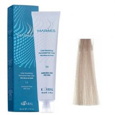 Крем-краситель стойкий без аммиака Kaaral Maraes Nourishing Permanent Hair Color 9.1 очень светлый блондин 60 мл