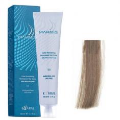 Крем-краситель стойкий без аммиака Kaaral Maraes Nourishing Permanent Hair Color 8.1 светлый пепельный блондин 60 мл