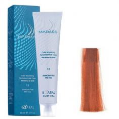 Крем-краситель стойкий без аммиака Kaaral Maraes Nourishing Permanent Hair Color 7.43 медный золотистый блондин 60 мл