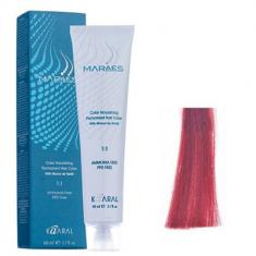 Крем-краситель стойкий без аммиака Kaaral Maraes Nourishing Permanent Hair Color 6.66 темный интенсивный красный блондин 60 мл