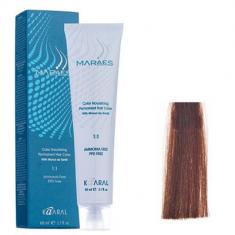 Крем-краситель стойкий без аммиака Kaaral Maraes Nourishing Permanent Hair Color 6.38 темный блондин золотисто коричневый 60 мл