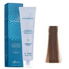 Крем-краситель стойкий без аммиака Kaaral Maraes Nourishing Permanent Hair Color 6.18 темный блондин пепельно-коричневый 60 мл