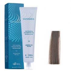 Крем-краситель стойкий без аммиака Kaaral Maraes Nourishing Permanent Hair Color 6.1 темный пепельный блондин 60 мл