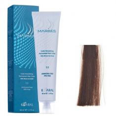 Крем-краситель стойкий без аммиака Kaaral Maraes Nourishing Permanent Hair Color 5.38 светлый каштан золотисто коричневый 60 мл