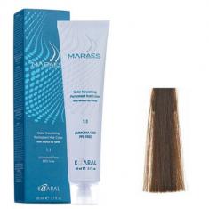 Крем-краситель стойкий без аммиака Kaaral Maraes Nourishing Permanent Hair Color 5.3 светлый золотистый каштан 60 мл