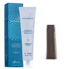 Крем-краситель стойкий без аммиака Kaaral Maraes Nourishing Permanent Hair Color 5.1 светло-пепельный каштан 60 мл