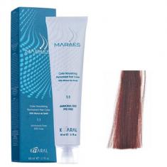 Крем-краситель стойкий без аммиака Kaaral Maraes Nourishing Permanent Hair Color 4.66 красный каштан насыщенный 60 мл