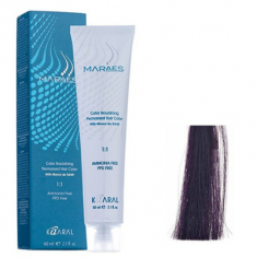 Крем-краситель стойкий без аммиака Kaaral Maraes Nourishing Permanent Hair Color 3.2 темный фиолетовый каштан 60 мл