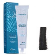 Крем-краситель стойкий без аммиака Kaaral Maraes Nourishing Permanent Hair Color 1.0 черный 60 мл