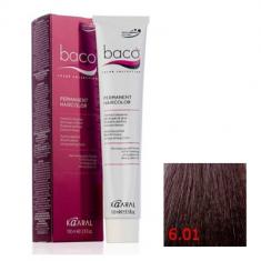 Крем-краска Kaaral Baco Color 6.01 натурально-пепельный темный блондин 100 мл