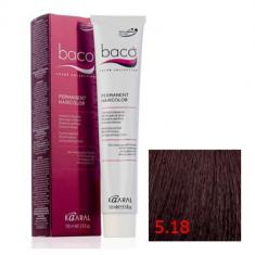 Крем-краска Kaaral Baco Color 5.18 светлый каштан пепельно-коричневый 100 мл